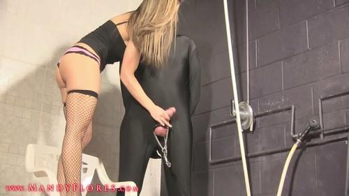 Slave X- Bucket Ball Torture Femdom w/ Mandy Flores