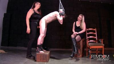 Femdom Empire – Lexi Sindel, Saharra Huxley – Strap-on Interrogation