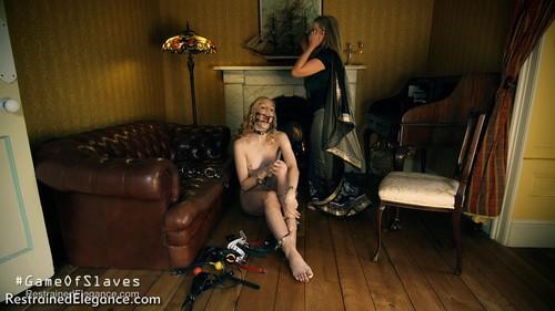 Restrainedelegance: #GameOfSlaves: Mistress @HannahClaydon13 raided!
