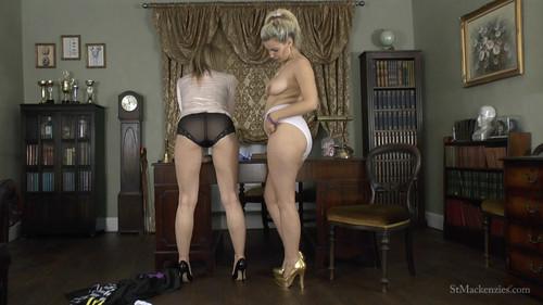 Saint Mackenzie's: Sexy Headmistress Mackenzie Convinces Naughty Student Dolly to Wear Very Big Panties