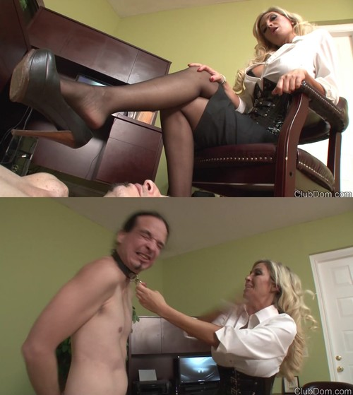 Clubdom: Stocking Face Slapping
