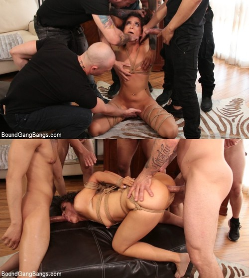 BOUND GANGBANGS: August 8, 2018 – Victoria Voxxx, Cody Steele , Donny Sins, Eddie Jaye, Mr. Pete and Zachary Wild/Second Chances: Victoria Voxxx Gets Every Hole Slammed In Her First DP