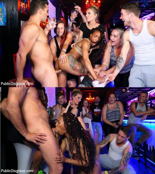 PUBLIC DISGRACE: August 20, 2018 – Ramon Nomar, Mona Wales and Nikki Darling/Nikki Darling Surrenders Her Holes In Spanish Nightclub