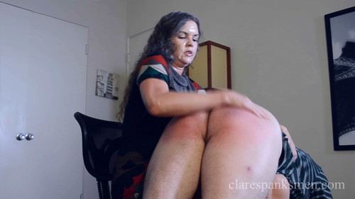 Clare Spanks Men: You Are Fired and Spanked