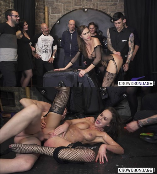 CROWD BONDAGE: Tina Kay – Wheel Of Fortune – BDSM Edition