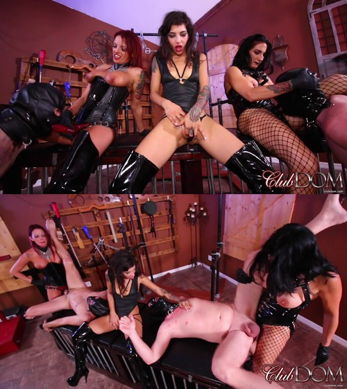 Clubdom: Raven and Bella teach Kitty: Strap On