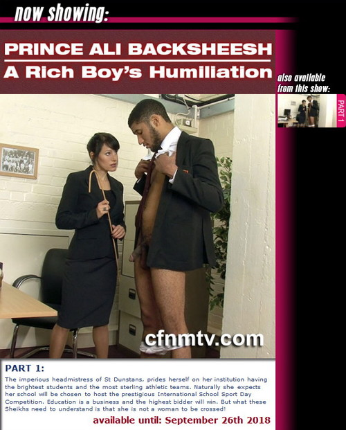 cfnmtv: Prince Ali Backsheesh – A Rich Boy's Humiliation (part 1)