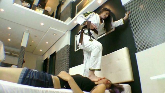 Mf Video Brazil:Karateka Feet Face By Pandora Cruel And Slave Pat