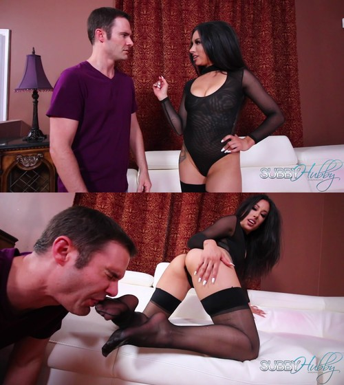 Subby Hubby: Goddess Tangent and the Panty Sniffer Part 1: Stocking Worship