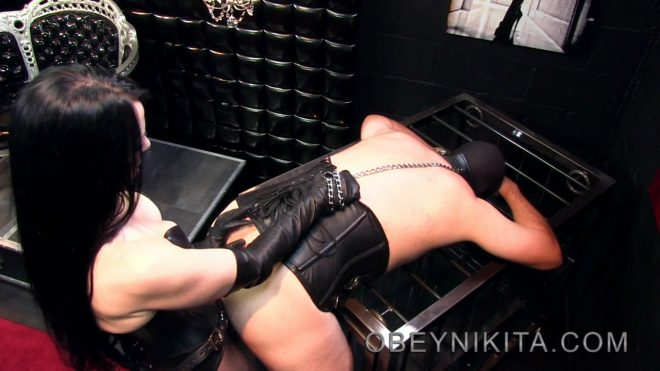 Mistress Nikita FemDom Videos: Caged For Fucking