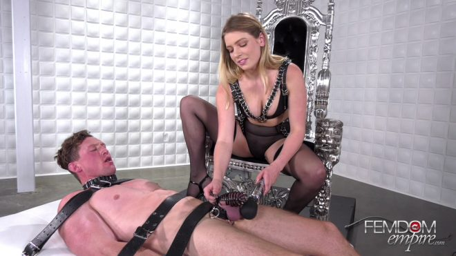 Femdom Empire: Caged Cock Tease