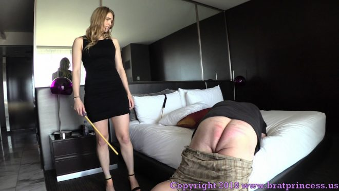 Brat Princess 2: Amber – Financial slave gets Caned (1080 HD)