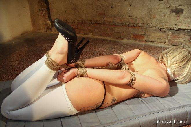 Hogtied Up: Victoria hogtied and stripped