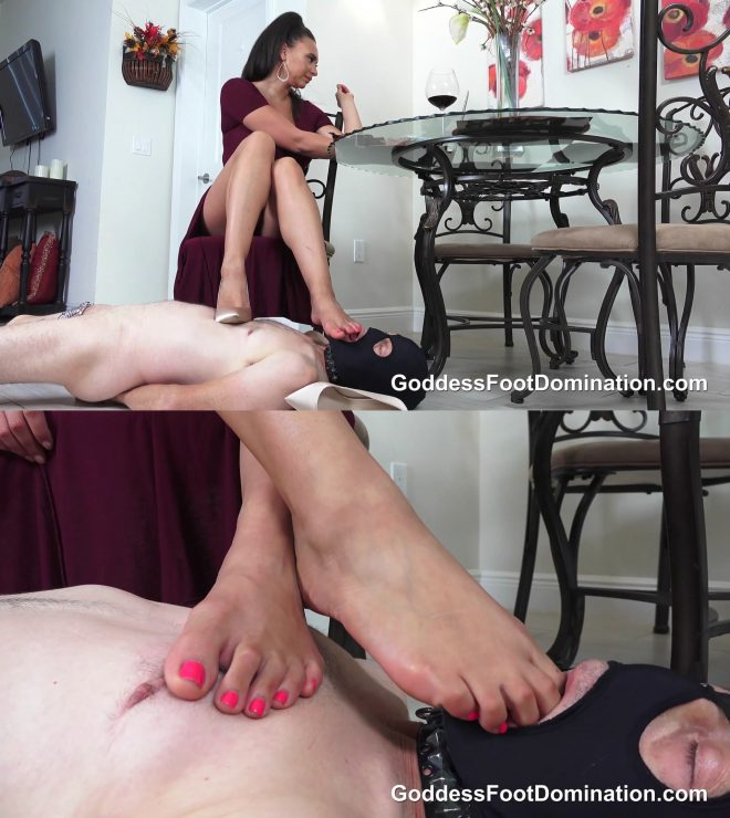 Goddess Foot Domination: Beneath My Feet While I Eat