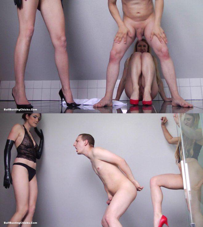 Ball Busting Chicks:  Angela,Isabella – Ladies Shower Room