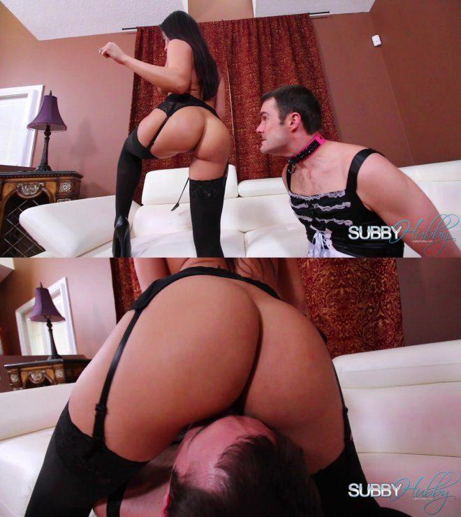 Subby Hubby/Cruel Unusual FemDom: Sheena's Hubby Slave Part 3: Ass Worship