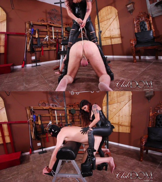 Club Dom/Cruel Unusual FemDom: Miss Roper's Dungeon Slave: Strap On Fucked