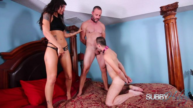 Subby Hubby: Kitty Likes to Play Part 4: Forced Bi Fucking