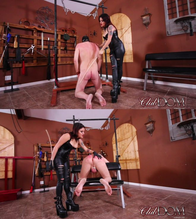 Club Dom: Miss Roper's Dungeon Slave: Caned
