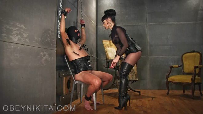 Mistress Nikita FemDom Videos: Suffer To Suck My Cock, Bitch