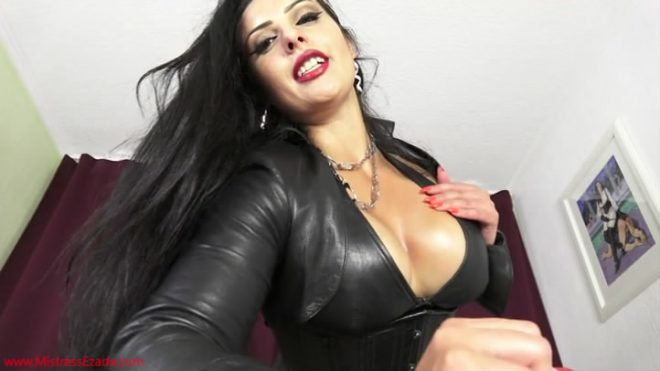 Miss Ezada Sinn: Cum for your leather Mommy!