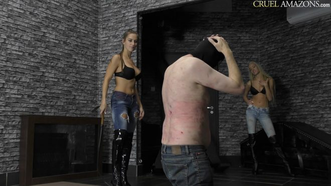 Cruel-Amazons: Bullwhipped To The Floor
