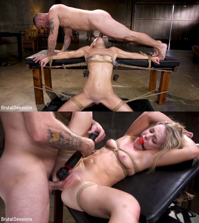 BRUTAL SESSIONS: January 2, 2019 – Mr. Pete, Kate Kennedy/Girl Next Door Kate Kennedy Tied in Rope Bondage and Fucked
