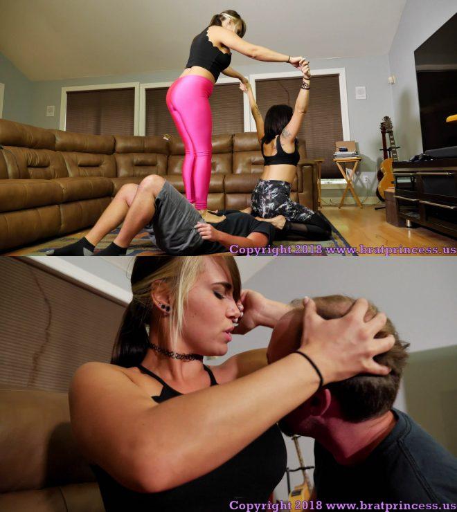 Brat Princess 2: Mariah and Natalya – Gassy Vegans Trample a Human Yoga Mat (1080 HD)