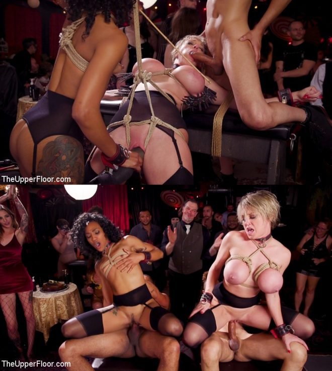 THE UPPER FLOOR:  March 8, 2019 – Dee Williams, Nikki Darling, Donny Sins/Squirting DP Anal Sluts Serve the Folsom Orgy