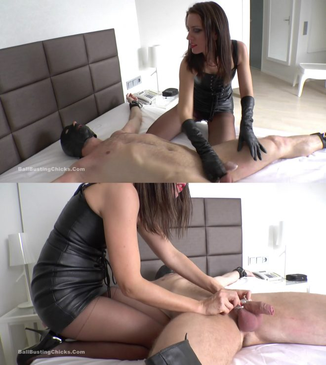 Ball Busting Chicks: Humiliated Chastity Slave