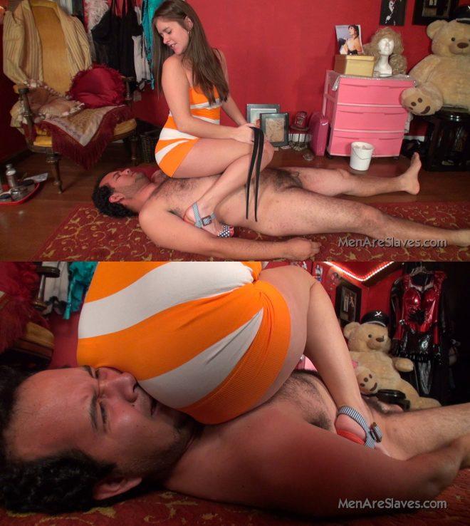 Men Are Slaves: Enjoying That Butt?