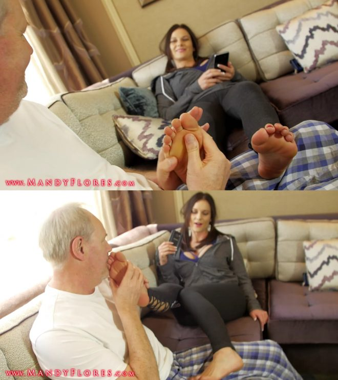 Mandy Flores: Grandpas Foot Fetish HD