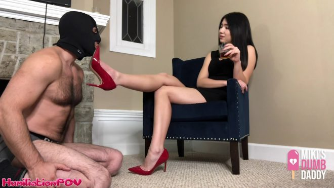 Humiliation POV Princess Miki : Shoe Pig Licks The Heels That He Paid For