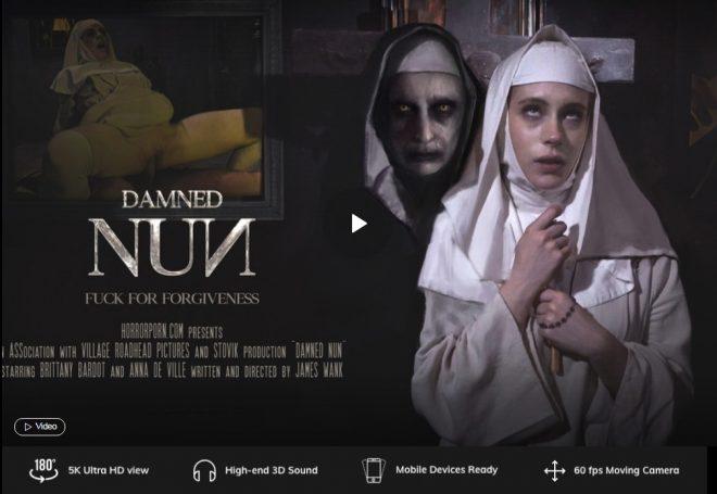 X Virtual/Horror Porn: Damned Nun in 180° X + 5K (X Virtual 63) – VR