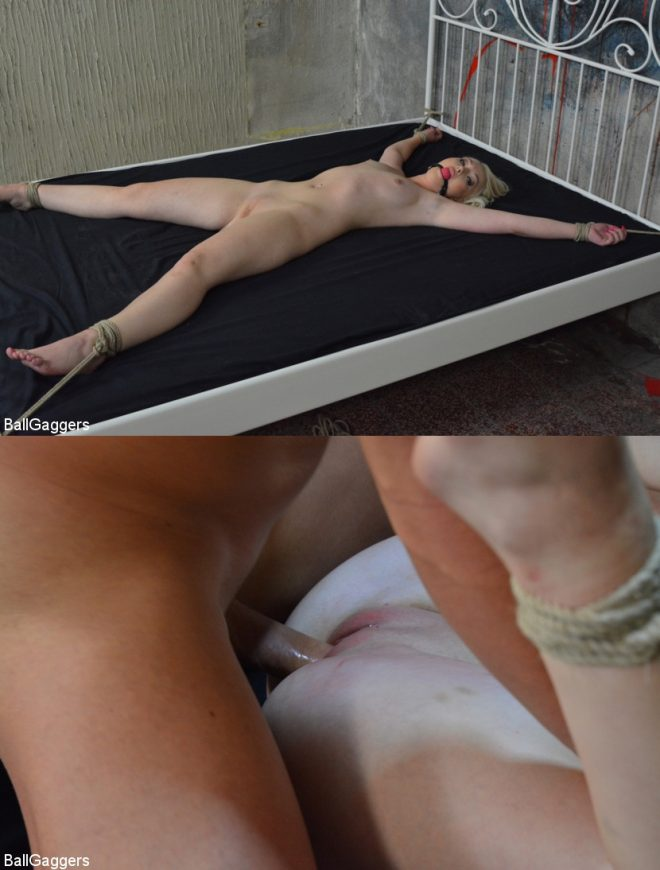 BALL GAGGERS: Lovita Tied up and Hardcore Fucked