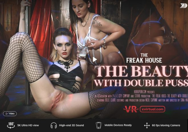 X Virtual: Freak house: The beauty with double pussy in 180° (X Virtual 44) – (4K) – VR