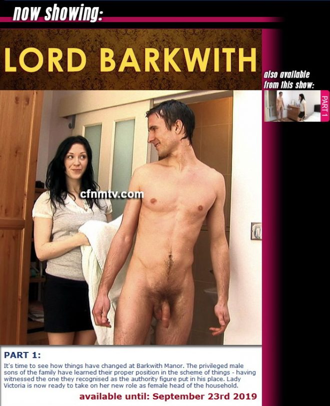 cfnmtv: Lord Barkwith (part 1)