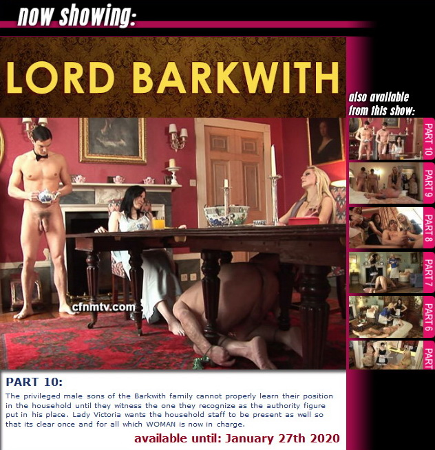 cfnmtv: Lord Barkwith (part 1-10)