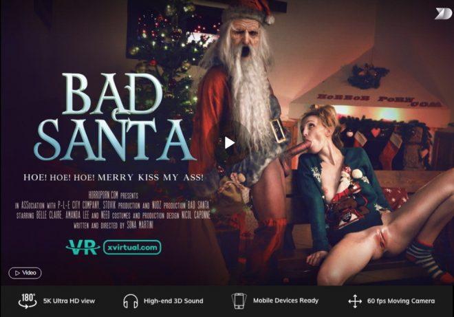 X Virtual/Horror Porn: Bad Santa in 180° (X Virtual 37) – (4K) – VR
