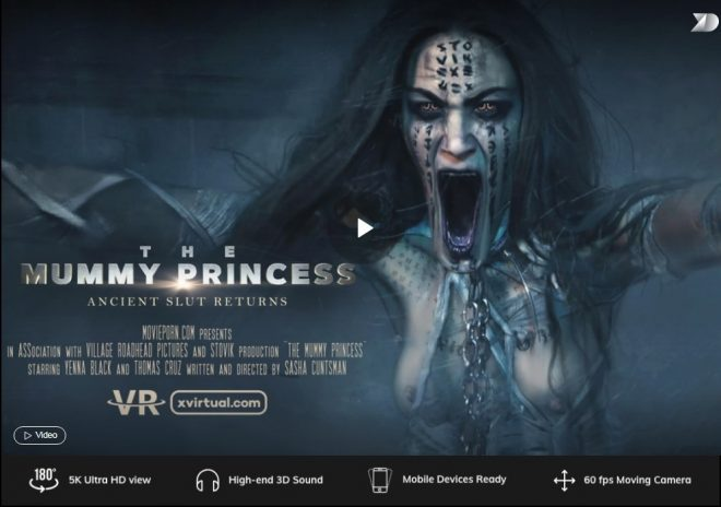X Virtual/Movie Porn: The Mummy Princess in 180° X (Virtual 35) – (4K) – VR