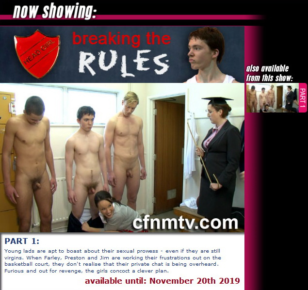 cfnmtv: Breaking The Rules (part 1)