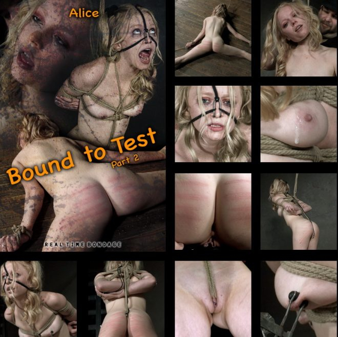 REAL TIME BONDAGE: Sep 28, 2019: Bound to Test 2 | Alice/The reddening of Alice's skin begins.