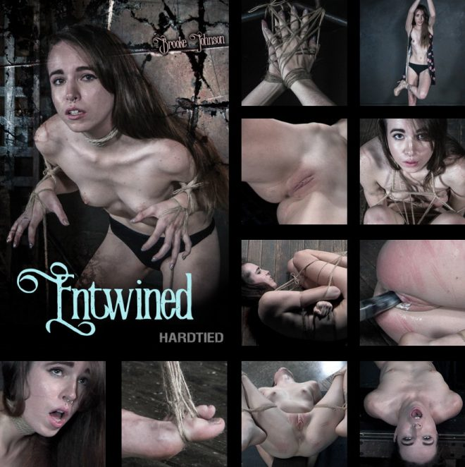 HARDTIED: Nov 6, 2019: Entwined | Brooke Johnson/Brooke is bound in four positions entirely with twine.