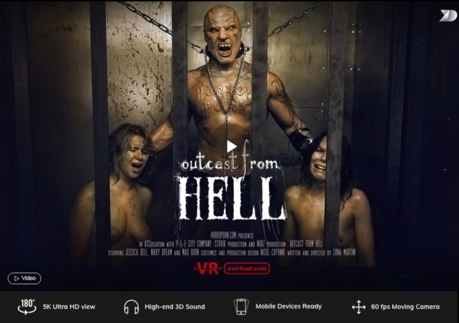 X Virtual/Horror Porn: Outcast from hell in 180° X (Virtual 27)  – (4K) – VR