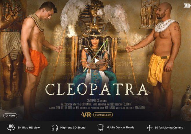 X Virtual/Creative Porn: Cleopatra in 180° X (Virtual 32) – (4K) – VR