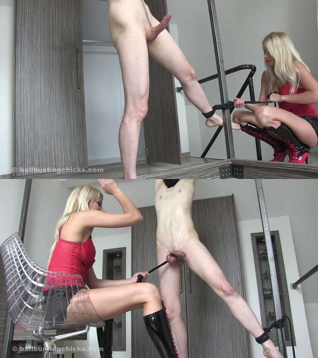 Ball Busting Chicks Natalie: Easy to torture!