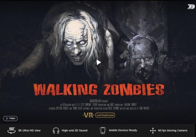 X Virtual/Horror Porn: Walking zombies in 180° X (Virtual 11) – (4K) – VR