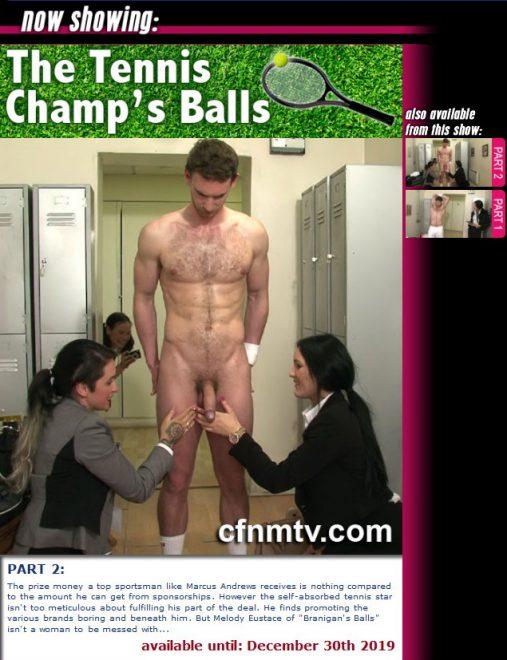 cfnmtv: The Tennis Champ's Balls (Part 1-2)