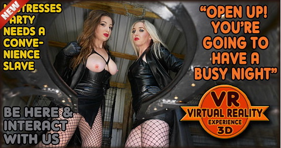 The English Mansion Mistress Evilyne & Mistress Sidonia: Party Convenience – VR (Part 1)