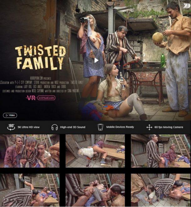X Virtual/Horror Porn: Twisted family in 180° (X Virtual 22) – (4K) – VR